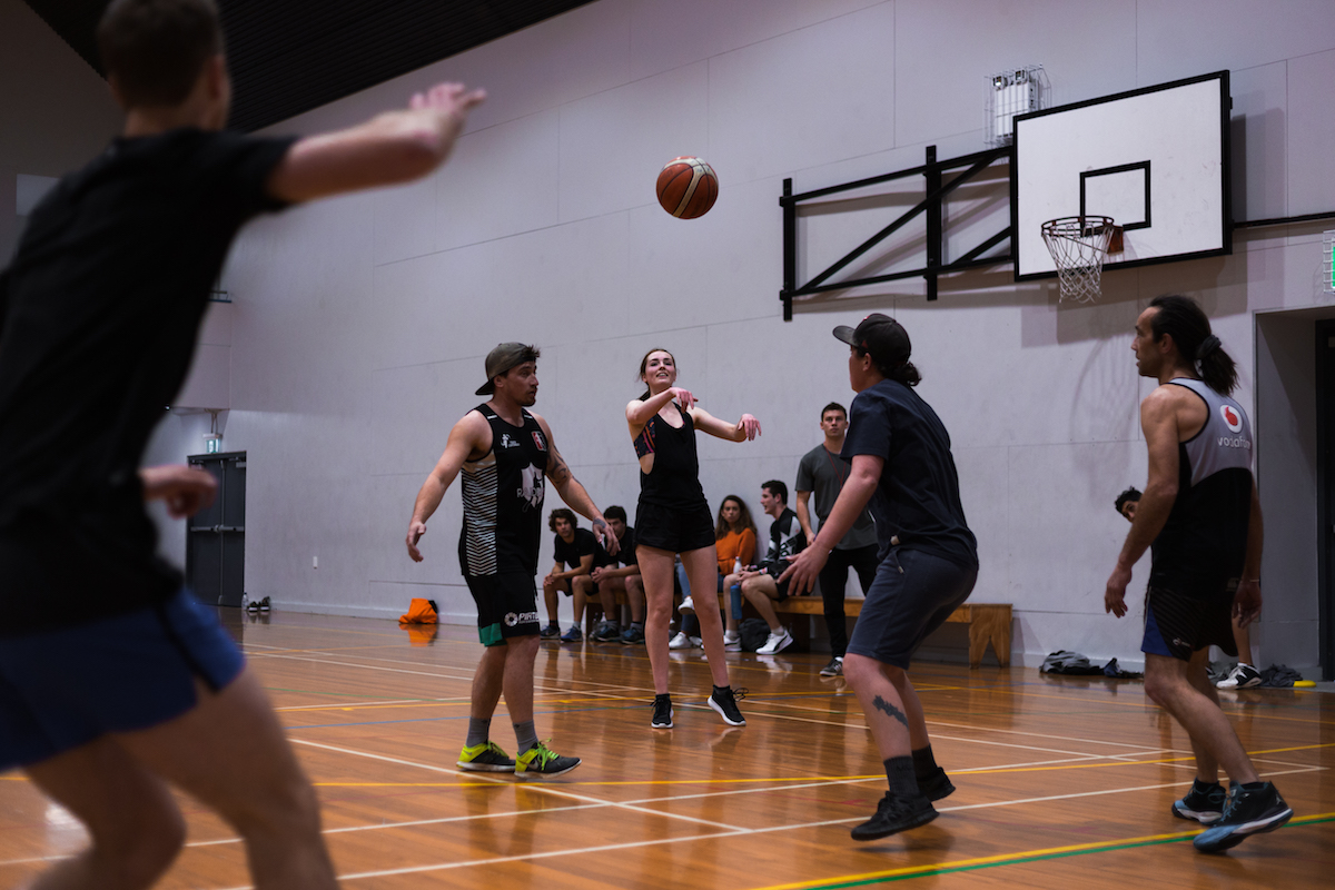 Social mixed league basketball in CHCH